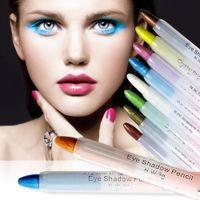 Wholesale Makeup Eye Pen - Wholesale- 2016 20 Colors 11.5 cm Eye Make Up Eyeliner Pencil Waterproof Eyebrow Beauty Pen Eye Liner Lip sticks Cosmetics Eyes Makeup