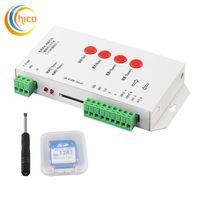 Wholesale Controller Software - T1000s led controller Edit Software 2048 Pixel SD Card Controller DC 5-24V for Led Digital Strip pixel light