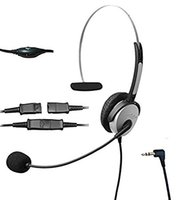 Casque D'annulation De Bruit Centre D'appel Pas Cher-Cordless Call Center Casque téléphonique avec suppression du bruit Casque avec microphone flexible pour Cisco Linksys Polycom Panasonic Office Deskphon