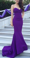 Wholesale couture pageant dresses for sale - Group buy 2019 New Celebrity y purple Sweetheart Couture Designer Cheap designer Evening Gowns Open back fairy sheath train pageant dress for women