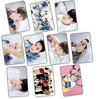 Wholesale Bamboo Posters - Wholesale- Kpop GOT7 FLY 2016 Album Let's Dance crystal sticker 10 k-pop got 7 Photos gift poster holiday birthday awards welfare Collect