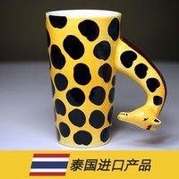 Wholesale China Large Painting - Wholesale- Drinkware Mugs giraffe ceramic mug hand-painted animal large cup of coffee cup