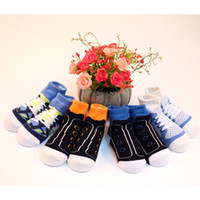 Wholesale Cool Boy Socks - 6-12M Baby Cotton Socks Contrast Color Spring And Autumn Baby Cool Style Baby Socks Of The Boys The Infant Children socks