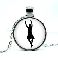 Wholesale Dancers Necklaces - 10pcs lot Highland Dance Highland Dancer Pendant Glass Photo Cabochon Necklace1