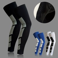 Wholesale Basketball Leg Gear - Wholesale- Sport Safety Breathable Basketball Leg Knee Pads Padded Bumper Brace Crashproof Leg Long Sleeve Gear Pad Outdoor Protector