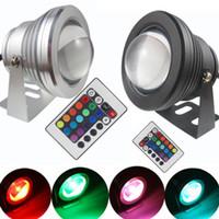 12v dc led luces de inundación al por mayor-Bombilla de luz de inundación LED de alta potencia a prueba de agua Lámpara 10W LED lámpara subacuática 12v 110v CA 85-265V RGB / reflector reflector para exteriores