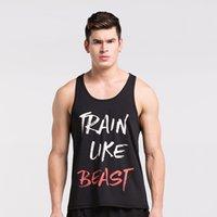 Wholesale Excercise Shirt - Wholesale- Men Vest Gilet Fitness Excercise Jogger Vest Sleeveless Shirts