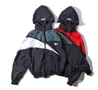 Wholesale Hip Hop Movement - hip hop Palace skateboard Windbreaker vetements Men and women hooded waterproof zipper Coat unisex movement jackets