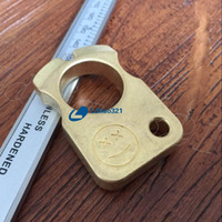 Wholesale First Ring - Handmade EDC Tools Gear Solid Brass Tiger Finger Key Chain Ring Tactical Outdoor Self defense survive First aid broken windows