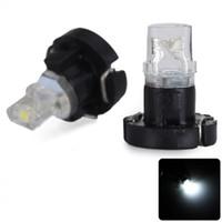 Wholesale Sencart Led Bulbs - Practical Sencart T3 White Light 1 LED Car Instrument Light 2pcs DC 12V Auto Dashboard Gauge Lights Signal Bulbs for Vehicle