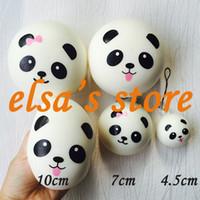 Wholesale Jumbo Panda Squishy Free Shipping - squishies wholesale 10pcs kawaii jumbo lot 10cm panda bun squishy slow rising squeeze kids toys charm gift bag pendant Free Shipping