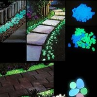 100PCS Glow in the Dark Stones Green Decor Garden Outdoor Pebble Luminous Rocks Bleu Très élégant Attractive Creative Pebbles Stone Home