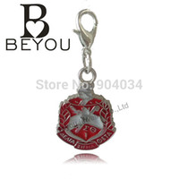 Wholesale Delta Charms - Wholesale- Delta Sigma Theta Sorority Shield Charm With Small Lobster Hook