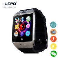 Wholesale Long Phone Call - Q18S smart wrist GSM phone watch touch screen iLepo smart watch with camera and NFC function long battery life standby for daily use