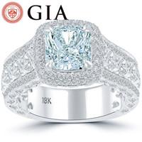 Wholesale Diamond Rings Blue Stone - 4.81 GIA Certified Fancy Blue Diamond Engagement Ring 18k White Gold