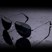 Wholesale Cheap Color Glass Cases - New Sunglasses Men Women Pilot 62mm UV400 Vintage Aviator Mirror Band P Glass Lenses Sun Glasses Cool with cases Cheap Sale