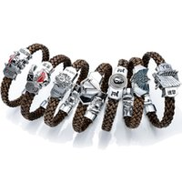 Wholesale Woven Bracelet Silicone - Anime Cartoon Final Fantasy Assassins Creed Legend of Zelda One Piece Attack on Titan Tokyo Ghoul Death Note Wristband Woven bracelet b039