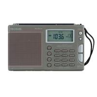 Wholesale Tecsun Clock Radio - Wholesale-Original High Sensitivity Tecsun PL-757A FM   MW   SWRadio Full-band Digital Tune Stereo Clock Radio W Adapter Earphone Pouch