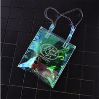 Wholesale Transparent Shopping Bags - Women Handbag Laser Hologram Transparent Shoulder Bag Brand New Lady Single Shopping Bags Large Capacity Casual bags
