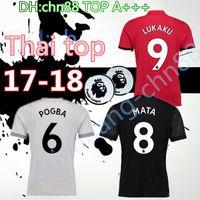 Wholesale Martial Uniforms - Best Thai quality 2017 2018 POGBA soccer jersey 17 18 UNiTed LUKAKU MARTIAL ROONEY home away football Jerseys uniforms RASHFORD shirt