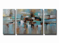 Wholesale Picture Frames Images - YIJIAHE Wall Art H73 3 Pieces image Paintings On Canvas The Hand-Painted Wall Pictures For Living Room Bedroom ect.