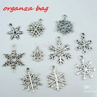 Wholesale Snowflake Mix - MIC 100Pcs Antique silver Alloy mixed Christmas Snowflake Charms Pendant DIY jewelry