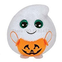 Ty Beanie Boos Halloween Treatsie Ghost Plush Toy Mini 7cm Cute Bend Keychains Key chain Детские игрушки для детей Подарки