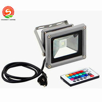 Wholesale Lamps Change Colour - Outdoor 10W 20W 30W 50W 100W RGB Led Flood Light Colour Changing Wall Washer Lamp IP65 Waterproof + 24key IR Remote Control