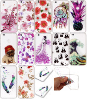 Soft TPU IMD Case para Huawei (P9, P10) Lite, P8 Lite 2017 Cases Cute Flower Panda Ananás Mandala Paisley Floral Butterfly Cartoon Cover
