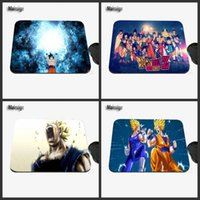 Wholesale Mouse Pad Cartoons - Beautiful dragon ball cartoon character custom design image, anti-slide laptop computer mouse mat for gift