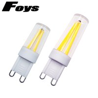 Wholesale G9 Led Bulb 1w - 10pcs 2017 New G9 LED bulb Dimmable Ceramic 110V 220V Light Bulb 1W 2W 4W LED Filament COB lamp Replace Halogen Light for Chandelier