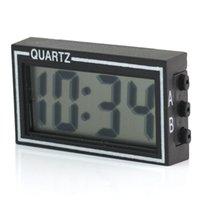 Wholesale mini desk alarm clock - Wholesale-Mini Digital LCD Auto Car Truck Dashboard Desk Date Time Calendar Clock Black