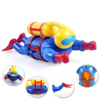 Wholesale Abs Bath - 120pcs lot Wind Up Water Diver Childrens Bath Time Fun Scuba Wind-Up Water Diver Swimming Pool Bathtub Bath Fun Toddler Toys for Kids
