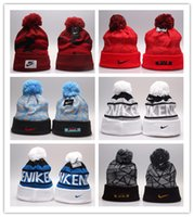 Wholesale Hiking Ny - Good Selling 2017 Winter Warm Knitted Hat NY Letters Embroidered Beanie For Unisex Fashion Outdoor Caps Like Skiing