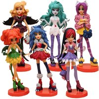 Wholesale Toys Pvc Sexy - Monster High Action Figures Doll Cartoon Anime PVC Toys Sexy Zombie Scare Master Model Decoration 6pcs Gift Set
