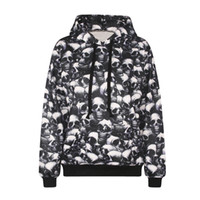 Wholesale Girl 3d Painting - Fashion 3d print spiritual pollution full skulls painting hoodie vivid paint boys girls cool sweatshirt high quality smooth material cloth