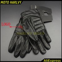 Wholesale Wholesale Long Leather Gloves - Wholesale- 2016 hot sale for Harley motorcyclists leather gloves long section of men's leather motorcycle gloves flame gloves