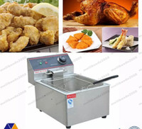 Wholesale Deep Fryer Electric - NEW hot sale 6L Electric Counter Deep fryer Fast Food Restaurant 2000W Frying Machine FREE SHIPPING MYY