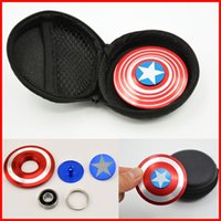 Wholesale Bag Mini Toys - high quality HandSpinner Fingertips Spiral Fingers Fidget Spinner EDC Hand Spinner Metal Fidgets Toys Gyro Toys With bag free shipping