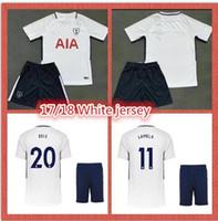 Wholesale Grey Sleeved Dress - New white soccer dress 17 18 men's shirt ERIKSEN DELE LAMELA JANSSEN short-sleeved jersey print name number