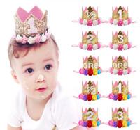 güzel kız taç toptan satış-SıCAK SATıŞ parlak taç Pretty Bebek Kız Prenses Tiaras Taçlar Kafa, Doğum Günü Partisi taç tiaras Saç Aksesuarları