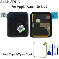 Wholesale Lcd Screen Watches - Tested Original For Apple Watch Series 1 LCD Display Touchscreen Digitizer Assembly 38 42mm Sport Sapphire Version+Adhesive+Tools