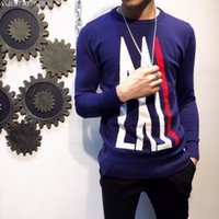 Wholesale Male Wool Clothes Fashion - 2016 cashmere woolen Sweater fashion luxury gentlemens outwear male nice wool sweaters men's fall clothing crew neck mix color high quality