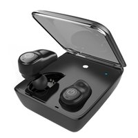 drahtloser laptop-kopfhörer mic groihandel-TWS True Wireless Kopfhörer Bluetooth 4.1 HIFI Kopfhörer mit MIC Sport In-Ear-Headset mit Ladebox für iOS Android Tablet Laptop