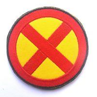 uniformes del ejército al por mayor-LOS X-MEN X HOMBRES Amarillo / Negro parche de aplicación Uniforme Ejército Usa Insignia de Moral Táctica Parches Bordados Insignias envío gratis