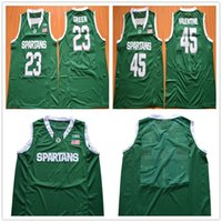 Wholesale Number 22 - Michigan State Spartans Green Basketball Jerseys Stitched S-3XL 14 Eron Harris 22 Miles Bridges 23 Draymond Green Custom Any Name Any Number