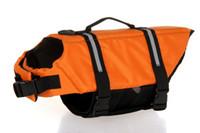 Wholesale Life Sized Dogs - Dog Life Jacket Breathable Pet Dog Puppy Swimwear Safety Clothing Adjustable Boating Life Vest Size 1pcv