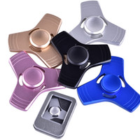 Wholesale Spinning Dhl - Hand Spinner Triangle Fidget Spinners Aluminum Alloy Spinning Top Decompression Anxiety Toys Fingertip Finger Toys dhl free OTH351