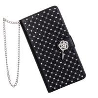 capa para telefone flip lg g3 venda por atacado-Luxo bling diamante de diamante de couro glitter flip wallet case capa para lg g3 g4 g5 stand card phone case para as mulheres