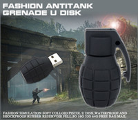 pen drive marken großhandel-Bombe Handgranaten Modell USB 2.0 Memory Stick Flash-Stick 4 GB 8 GB 16 GB 32 GB 64 GB 128 GB 256 GB 100% nagelneu